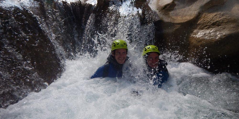 partie aquatique dans le canyon d'aiglun